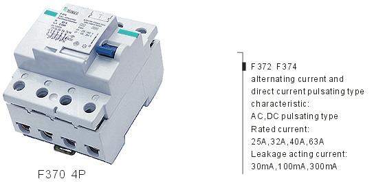 TF370 4P Residual Current Circuit Breaker