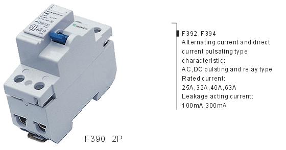 F390 2P Residual Current Circuit Breaker