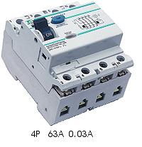 TGRC Residual Current Circuit Breaker (RCCB),4P 63A 0.03a