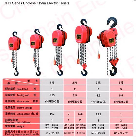 DHS endless Chain Electric Hoist