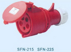 red industrial connectors
